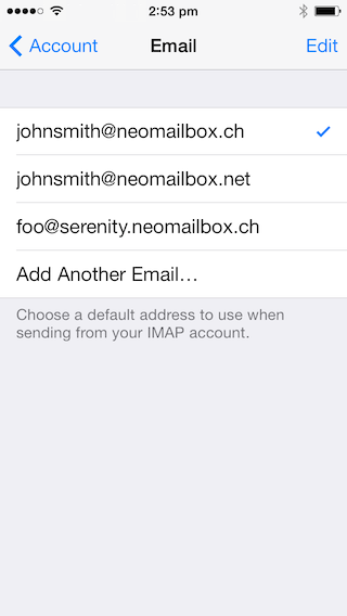 how to set up e-mail accounts on ipod touch